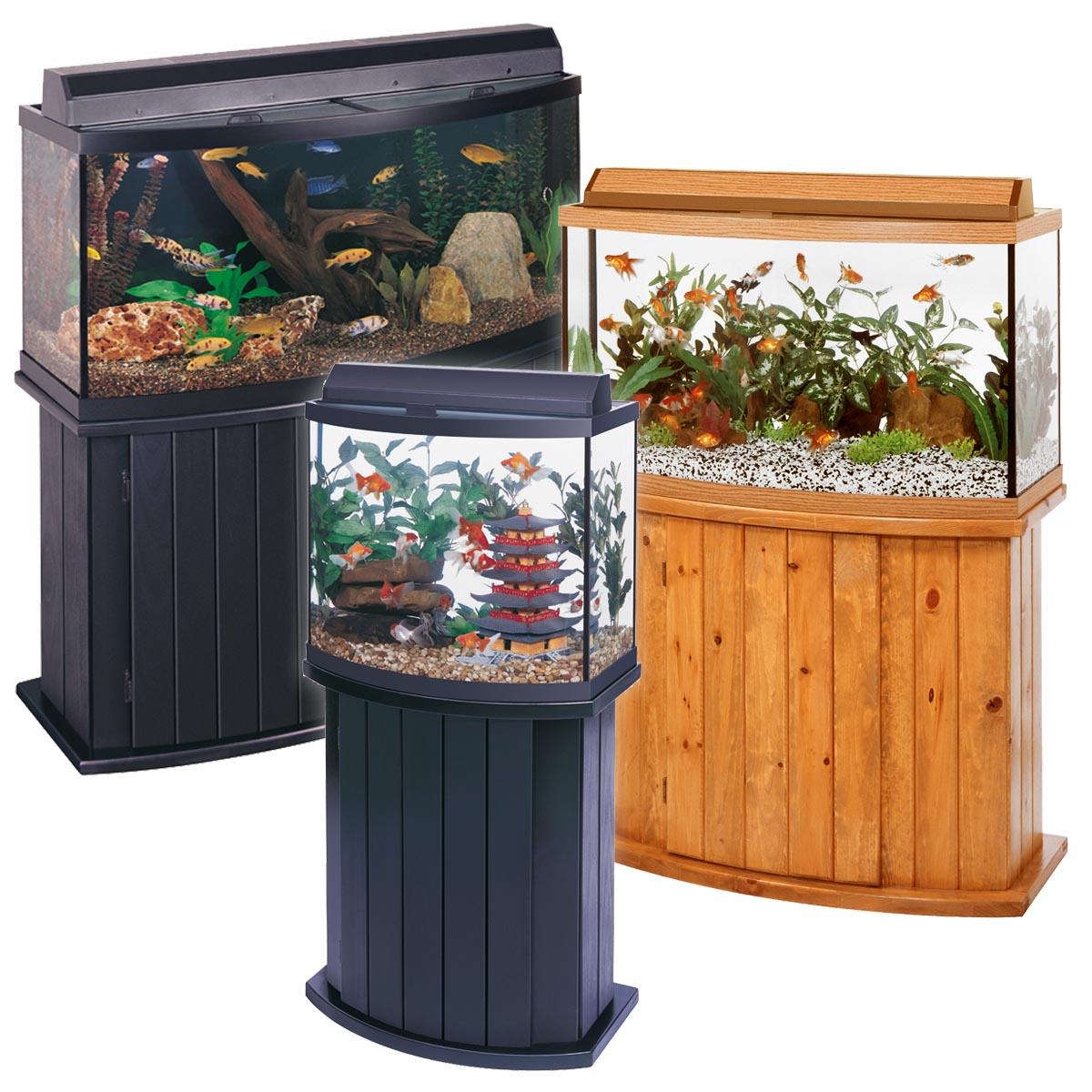 100 Gallon Bow Front Corner Aquarium