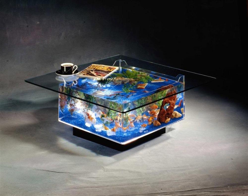 Aqua Square Coffee Table Aquarium