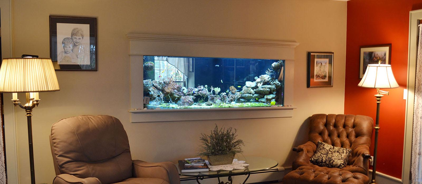 Aquarium Wall Mounted Fish Tank HF02 Design Ideas
