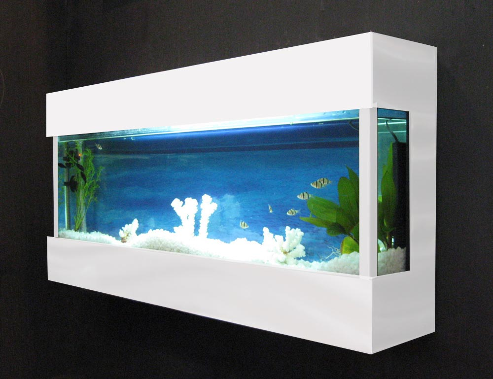Bayshore aquarium wall mounted aquarium design ideas for Aquarium interior designs pictures