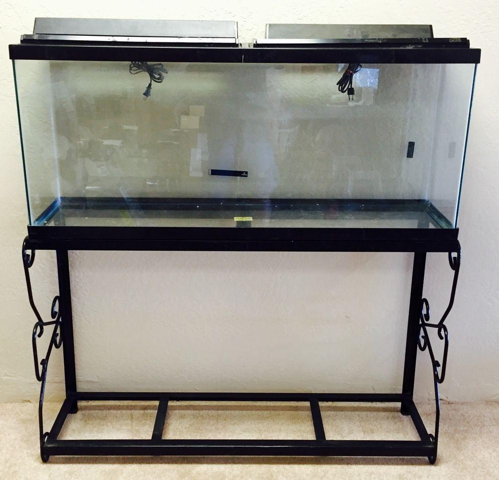 Custom Wrought Iron Aquarium Stand