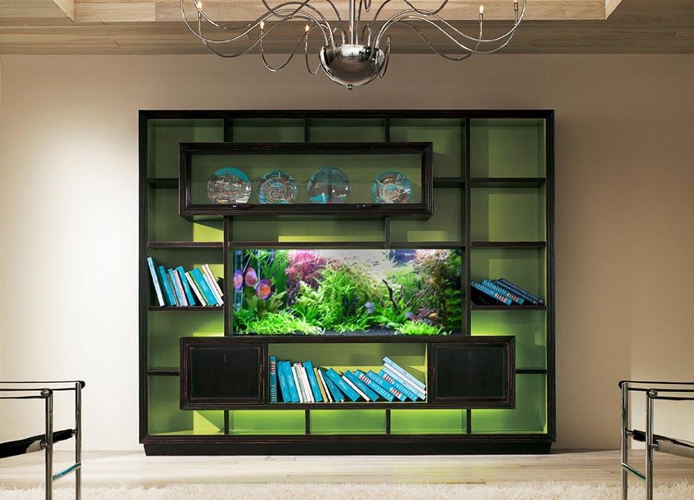 Fish Aquarium TV Stand