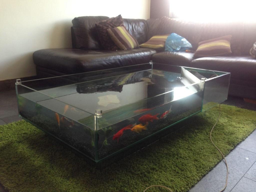 Glass Aquarium Coffee Table